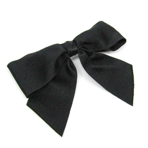 Chanel Textile Women's Barrette Black ribbon
