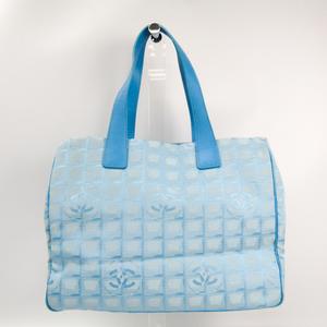 Chanel New Travel Line A15991 Women's New Travel Line Handbag Light Blue