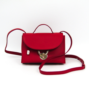 Salvatore Ferragamo Stella Small 21 G851 Women's Leather Shoulder Bag Red