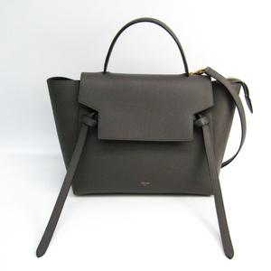 Celine Belt Bag Mini 176103 Women's Leather Handbag Gray