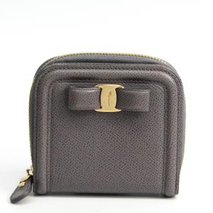 サルヴァトーレ・フェラガモ(Salvatore Ferragamo) ヴァラ 22 C868 レディース レザー 財布(二つ折り) グレー