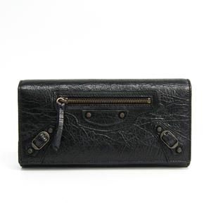 Balenciaga Classic 253038 Leather Long Wallet (bi-fold) Black