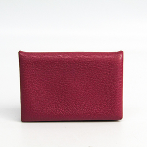 Hermes Chevre Myzore Leather Card Case Calvi Bois de rose