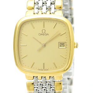 Omega De Ville Quartz Gold Plated,Stainless Steel Men's Dress Watch 396.1017