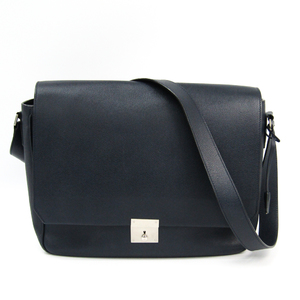 Valextra Men's Leather Shoulder Bag Navy