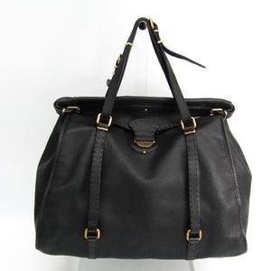 Fendi 7VA213 Men's Leather Handbag Black