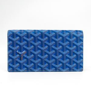 Goyard Richelieu 2 Unisex Leather,Canvas Long Wallet (bi-fold) Blue