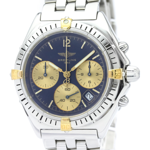 Breitling Chrono Sextant Quartz Stainless Steel,Yellow Gold (18K) Men's Sports Watch B55046