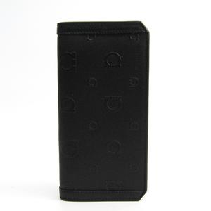 サルヴァトーレ・フェラガモ(Salvatore Ferragamo) ガンチーニ 66 9374 メンズ PVC,レザー 長財布(二つ折り) ブラック
