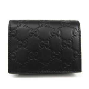 Gucci Guccissima Leather Card Case Black 410120
