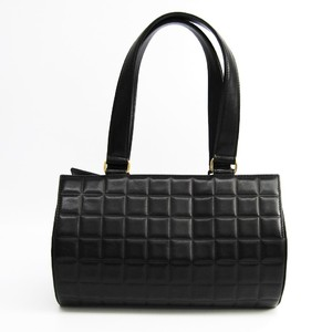 シャネル(Chanel) チョコバー レディース レザー ハンドバッグ ブラック