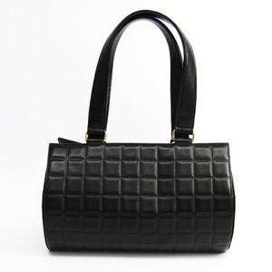 Chanel Chocolate Bar Women's Leather Handbag Black