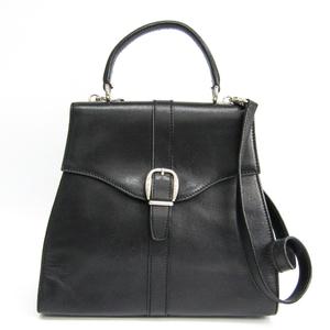 グッチ(Gucci) 000-1793 レディース レザー ハンドバッグ ブラック