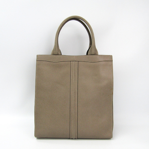 Valextra Medium Punch V5U07 Women's Leather Tote Bag Oyster Gray