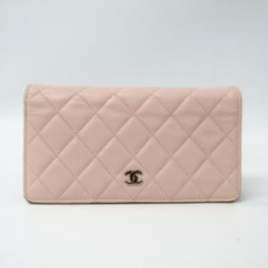 シャネル(Chanel) A31509 レディース キャビアスキン 長財布(二つ折り) ライトピンク