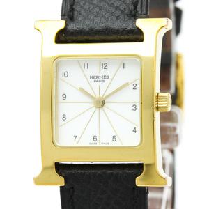 Hermes Heure H Quartz Gold Plated Women's Dress Watch HH1.201