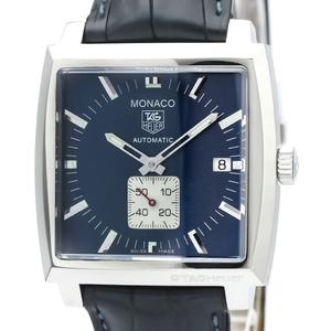 TAG HEUER Monaco Steel Leather Automatic Mens Watch WW2111