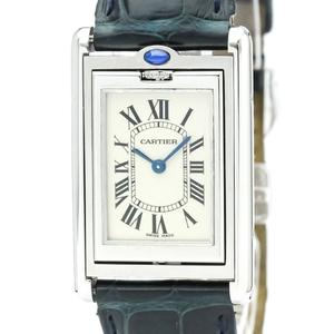 Cartier Tank Basculante Quartz Stainless Steel Unisex Dress Watch W1011258