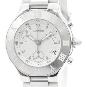 Cartier Must 21 Quartz Stainless Steel Men's Sports Watch W10184U2