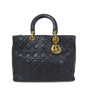 Christian Dior Canage/Lady Dior Women's Leather Handbag Black