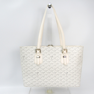 Goyard Sac Marie Galante Women's Canvas,Leather Tote Bag White