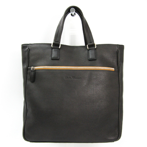 Salvatore Ferragamo 24 O336 Men's Leather Tote Bag Charcoal Gray