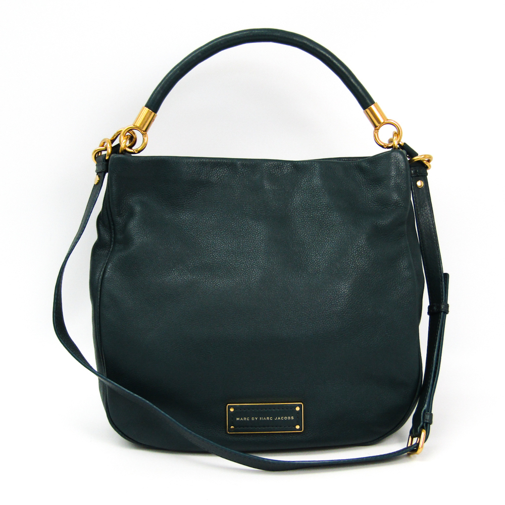 Marc By Marc Jacobs M0001342B Women's Leather Shoulder Bag Dark Green