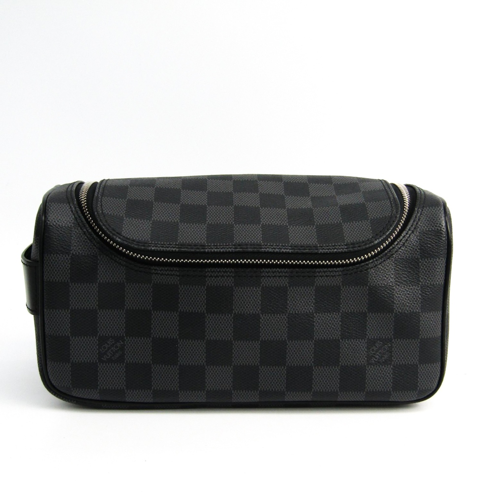 Louis Vuitton Damier Graphite Toiletry Pouch N47625 Men's Pouch Damier Graphite