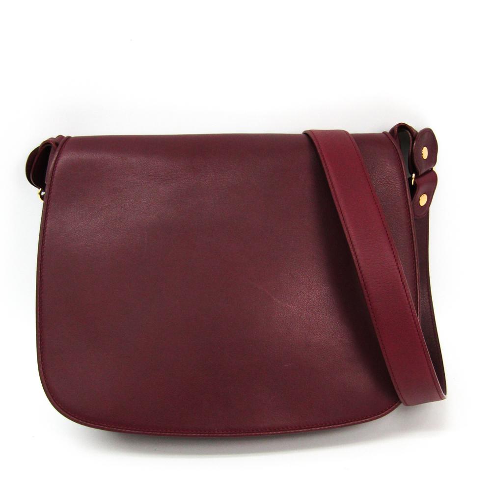 Cartier Must Women's Leather Shoulder Bag Bordeaux