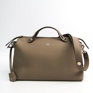 Fendi By The Way 8BL125 Women's Leather Handbag Grayish