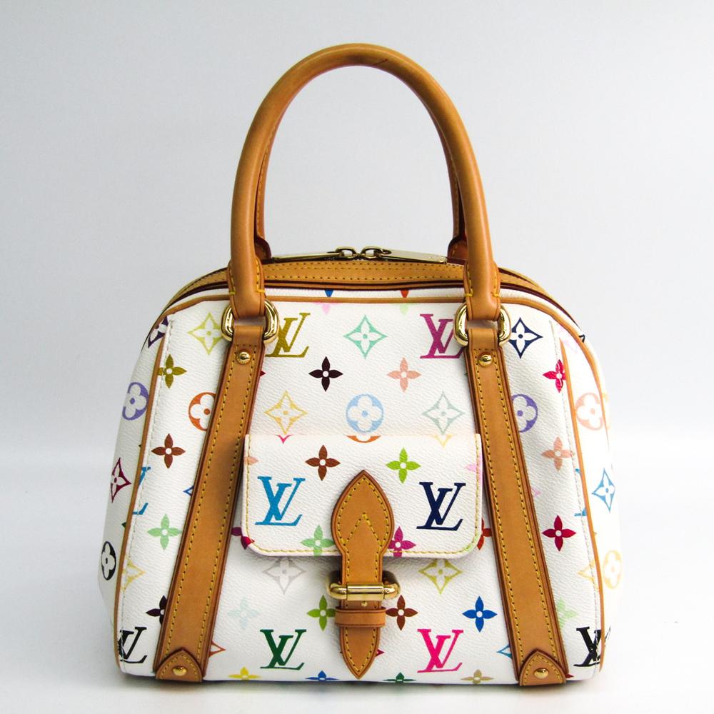 Louis Vuitton Monogram Multicolore Priscilla M40096 Handbag Blanc