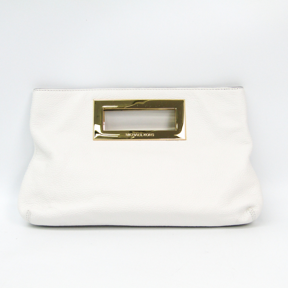 Michael Kors 35T2GBKC2L Women's Leather Handbag White