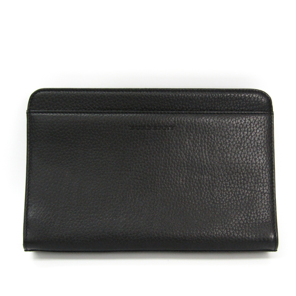Burberry Men's Leather Clutch Bag Black