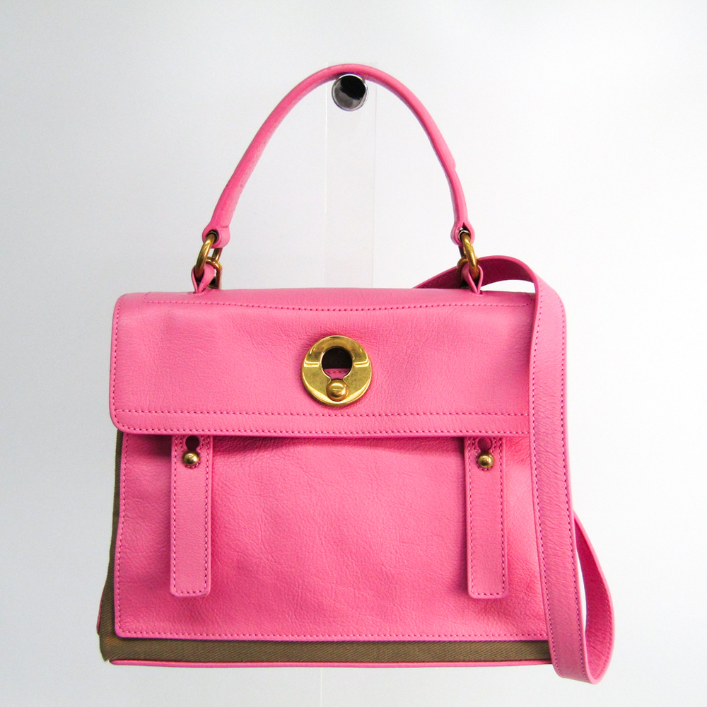 Yves Saint Laurent Muse Two Muse Two 283761 Women's Leather Handbag Pink