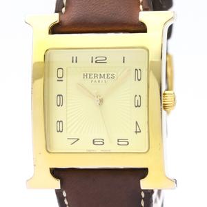 Hermes Heure H Quartz Gold Plated Men's Dress Watch HH1.801