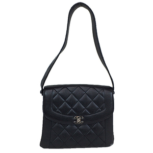 Auth Chanel Matelasse Caviar skin Leather Shoulder Bag