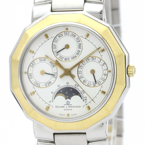 Baume & Mercier Riviera Quartz Stainless Steel,Yellow Gold (18K) Men's Dress Watch 6131.038