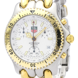 TAG Heuer Sel Chronograph Gold Plated Steel Mens Watch CG1120