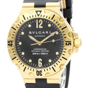 Bvlgari Diagono Automatic Yellow Gold (18K) Men's Sports Watch SD40G
