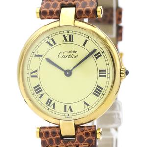 Cartier Must Quartz Gold Plated Unisex Dress Watch