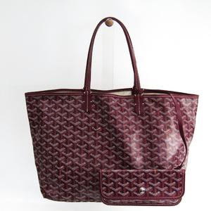 Goyard Saint Louis Saint Louis PM Women's Leather,Canvas Tote Bag Bordeaux