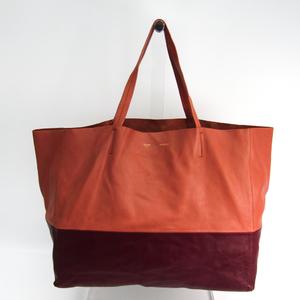 Celine Horizontal Cabas Women's Leather Tote Bag Bordeaux,Rose Pink