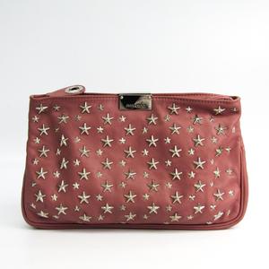 Jimmy Choo ZULU Women's Leather Clutch Bag Pink