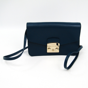 Furla Metropolis Women's Leather Shoulder Bag Blue