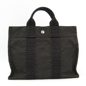 Hermes Her Line PM Unisex Polyamide,Polyester Tote Bag Gray