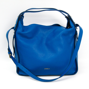 Furla Eva HoBo Women's Leather Handbag Blue