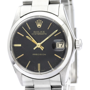 Rolex Oyster Date Mechanical Stainless Steel Unisex Dress Watch 6466