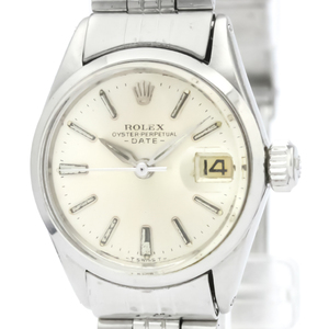 ROLEX Oyster Perpetual Date 6516 Steel Automatic Ladies Watch