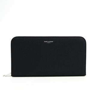 サン・ローラン(Saint Laurent) 328558 ユニセックス  型押しカーフ 長財布(二つ折り) ネイビー