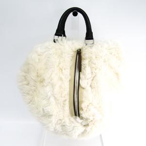 Celine Women's Fur Handbag Off-white